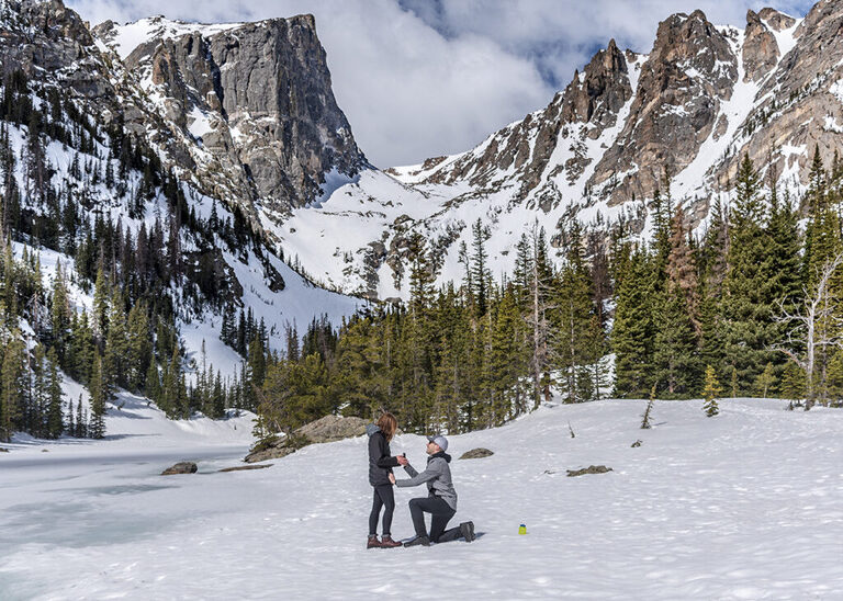 Dream Lake Rocky Mountain National Park Marriage Proposal